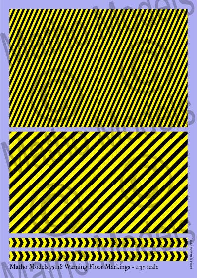 1/35 ジオラマアクセサリー フロア用警告模様マーキングデカール[Matho Models]《04月仮予約》