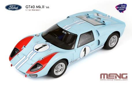 1/12 フォードGT40 Mk.II'66(多色成型版) プラモデル(再販)[MENG Model]【同梱不可】【送料無料】《発売済・在庫品》