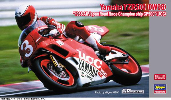 """1/12 ヤマハ YZR500(0W98) """"1988 全日本ロードレース選手権GP500""""(UCC) プラモデル[ハセガワ]《05月予約》"""