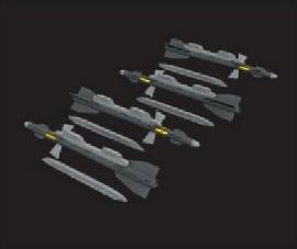1/72 R-27ET/AA-10 アラモ-D 空対空ミサイルw/ランチャー (4個入)[エデュアルド]《在庫切れ》