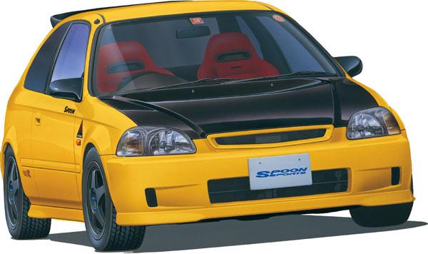 1/24 インチアップシリーズ No.280 スプーン シビック タイプR(EK9) プラモデル[フジミ模型]《06月予約》
