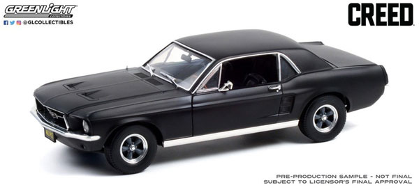 1/18 Creed (2015) - Adonis Creed's 1967 Ford Mustang Coupe - Matte Black[グリーンライト]《09月仮予約》