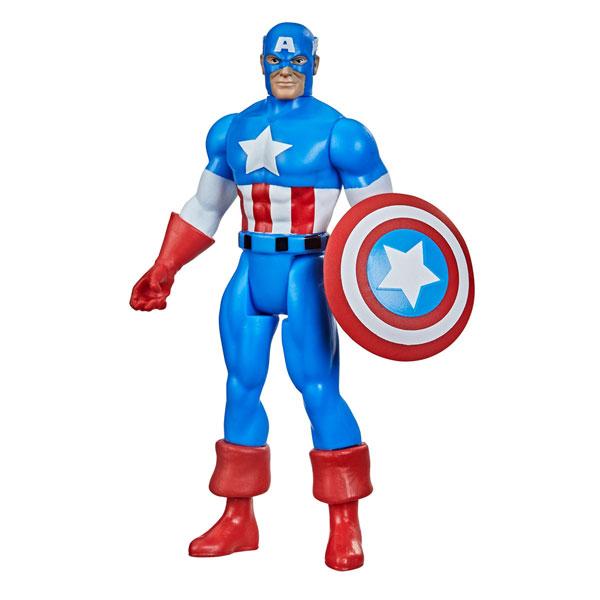 『マーベル・コミック』「マーベル・レジェンド RETRO」3.75インチ・アクションフィギュア #01 キャプテン・アメリカ[ハズブロ]《在庫切れ》
