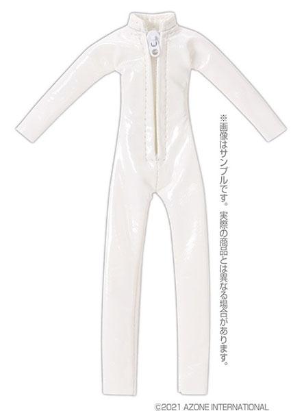 ピコニーモ用 1/12 キャットスーツ エナメルホワイト (ドール用)[アゾン]《発売済・在庫品》