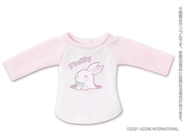 ピュアニーモ用 1/6 PNSふわふわどうぶつラグランTシャツ ピンク×ホワイト (ドール用)[アゾン]《発売済・在庫品》