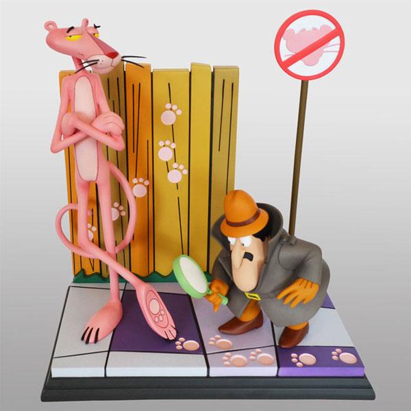 ピンク・パンサー スタチュー ピンク・パンサー&クルーゾー警部[Hollywood Collectibles Group]【同梱不可】【送料無料】《03月仮予約》