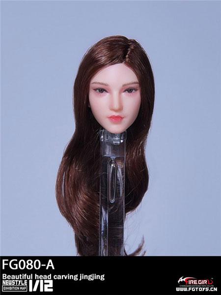 1/12 ビューティー女性ヘッド A (ブラウンロングヘア)[Fire Girl]《10月仮予約》