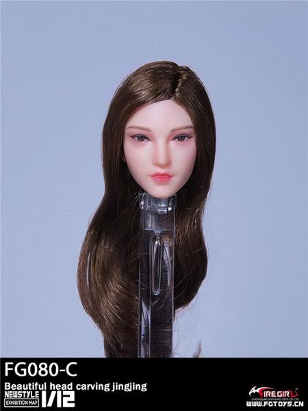 1/12 ビューティー女性ヘッド C (栗色ロングヘア)[Fire Girl]《10月仮予約》