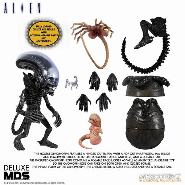 MDS デザイナーシリーズ/ ALIEN: エイリアン ビッグチャップ DX 6インチ アクションフィギュア[メズコ]《03月仮予約》