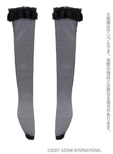 1/6 ピュアニーモ用 PNM レースチュールソックス ブラック (ドール用)[アゾン]《発売済・在庫品》