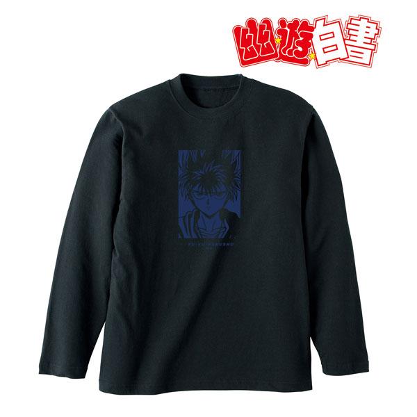 幽☆遊☆白書 描き下ろしイラスト 飛影 90'sカジュアルver. ロングTシャツ ユニセックス S[アルマビアンカ]《在庫切れ》
