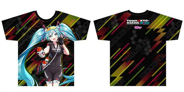 レーシングミク 2021 TeamUKYO 応援Ver. フルグラフィックTシャツ(Mサイズ)[キャラバン]《在庫切れ》