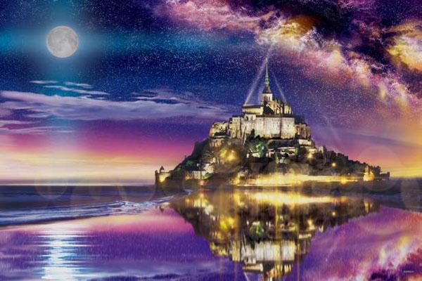 ジグソーパズル モン・サン・ミシェルの夜 2016ベリースモールピース (22-101S)[エポック]《06月予約》