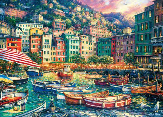 ジグソーパズル 夕暮れの美しい港 600ピース (66-182)[ビバリー]《06月予約》