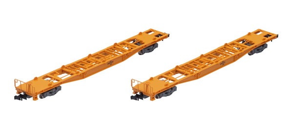 8743 JR貨車 コキ350000形(コンテナなし・2両セット)[TOMIX]《在庫切れ》