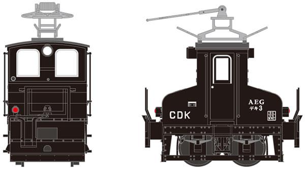 18007 銚子電気鉄道 デキ3 電気機関車(ビューゲル仕様/車体色:黒/動力付)[津川洋行]《05月予約》