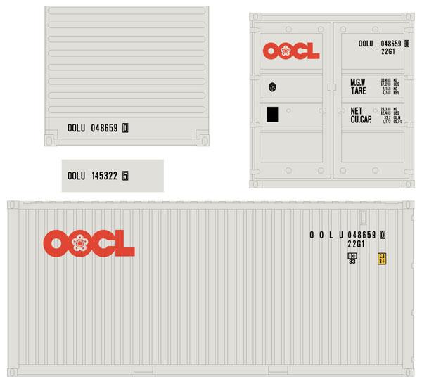 733Q25 1/80 20ft 22G1 OOCL[ワンマイル/モデルアイコン]《12月予約》
