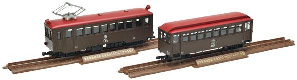 鉄道コレクション ナローゲージ80 猫屋線 直通急行「やまねこ」 デハ101+ホハフ25 2両セット[トミーテック]《10月予約》