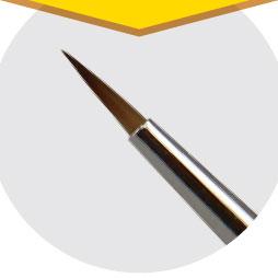 神ふでシリーズ 神ふでショート 硬面細筆 (キャップ付)[ゴッドハンド]《発売済・在庫品》