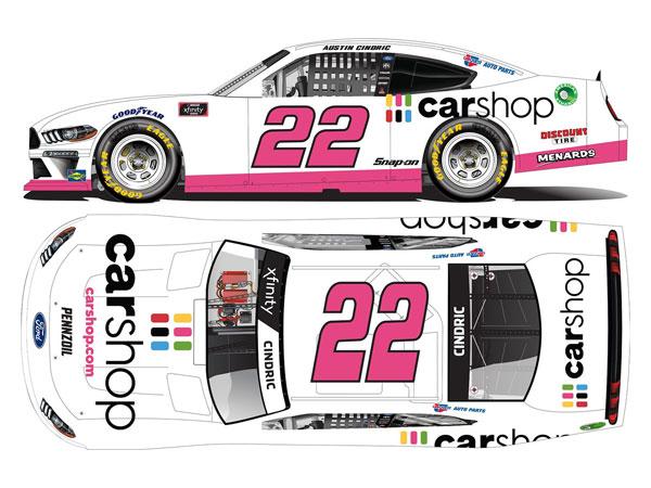 """1/64 """"オースティン・シンドリック"""" #22 カーショップ フォード マスタング NASCAR Xfinityシリーズ 2021[Lionel Racing]《11月予約》"""
