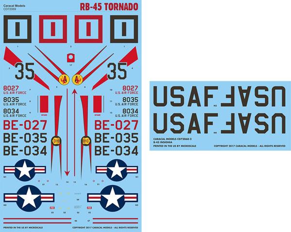 1/72 アメリカ空軍 RB-45 トーネード デカール[カラカルモデル]《05月予約》