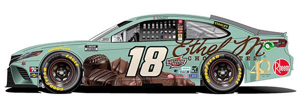 """1/64 """"カイル・ブッシュ"""" #18 Ethel M チョコレート TOYOTA カムリ NASCAR 2021[Lionel Racing]《12月予約》"""