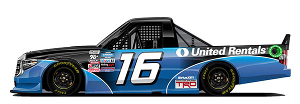 """1/64 """"オースティン・ヒル"""" #16 ユナイテッド・レンタルズ・スローバック TOYOTA タンドラ NASCAR[Lionel Racing]《12月予約》"""