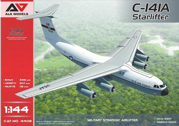 1/144 米・ロッキードC-141Aスターリフター戦略輸送機 プラモデル[モデルズビット]《05月予約》