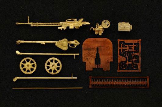 1/72 DShKM 12.7mm重機関銃w/車輪[Mini World]《06月予約》