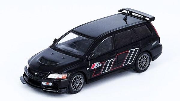 1/64 三菱 ランサー エボリューション IX ワゴン 2005 ラリーアート ブラック[INNO Models]《06月仮予約》