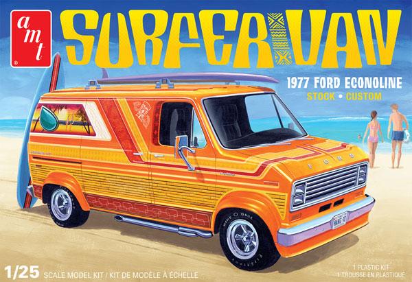 1/25 サーファーバン 1977 フォード・エコノライン プラモデル[AMT]《05月予約》