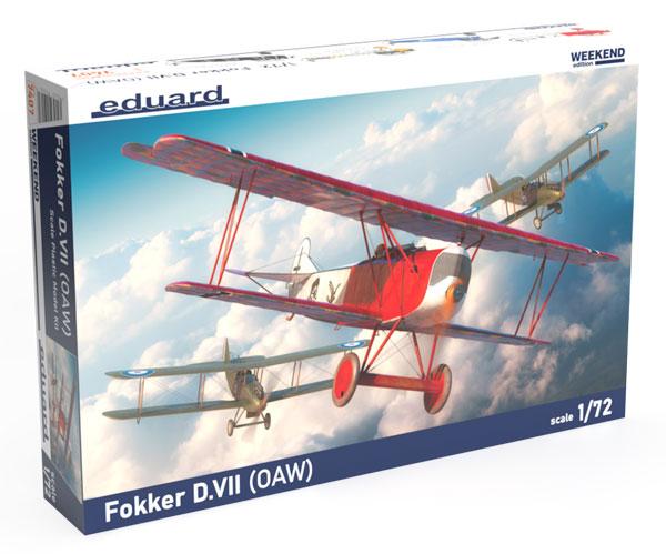 1/72 フォッカー D.VII (OAW) ウィークエンドエディション プラモデル[エデュアルド]《06月予約》