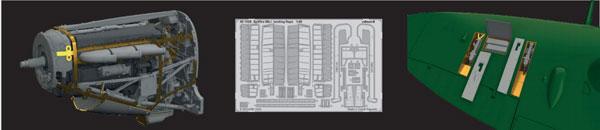 1/48 スピットファイア Mk.IIb アドバンスドパーツセット(エデュアルド用)[エデュアルド]《06月予約》