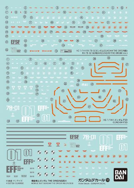 ガンダムデカール No.123 機動戦士ガンダム THE ORIGIN汎用(4)[BANDAI SPIRITS]《07月予約》