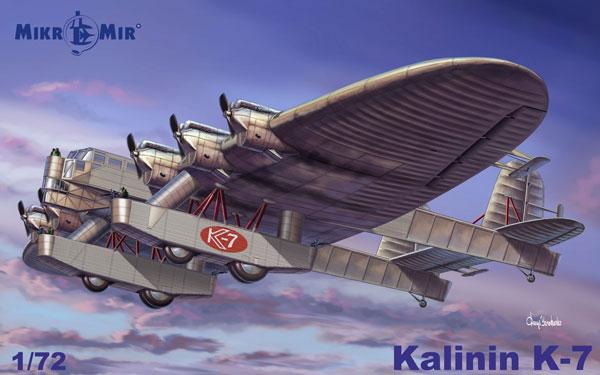 1/72 カリーニン K-7 プラモデル(再販)[MikroMir]【送料無料】《06月予約》