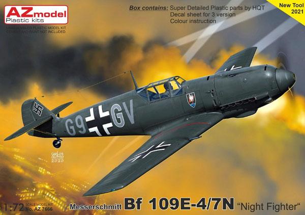 1/72 Bf109E-4/7N 「夜間戦闘機」 プラモデル[AZ Model]《06月予約》