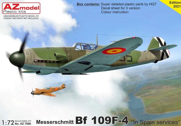 1/72 Bf109F-4 「スペイン」 プラモデル[AZ Model]《在庫切れ》