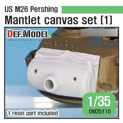 1/35 朝鮮戦争 米陸軍M26パーシング用キャンバスカバー付防盾セット初期型(T社用)[DEF. Model]《06月予約》