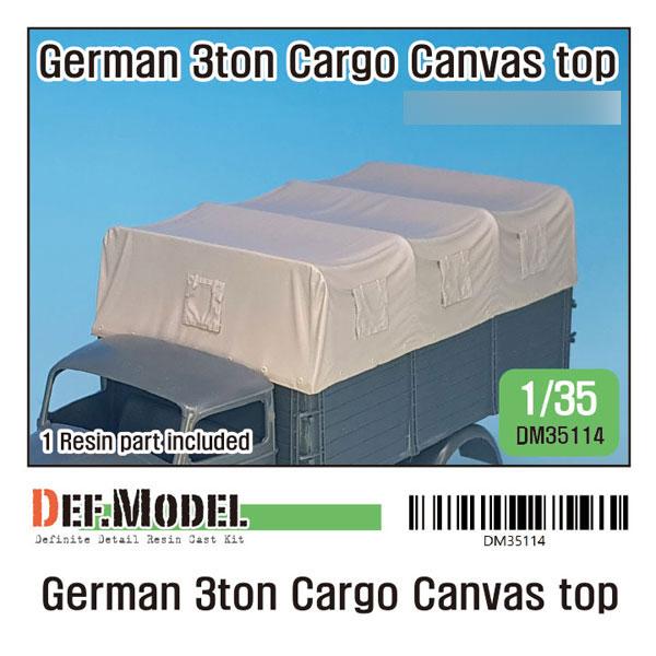 1/35 WWII ドイツ陸軍3トンカーゴトラック用キャンパストップセット(T社/イタレリ用)[DEF. Model]《06月予約》