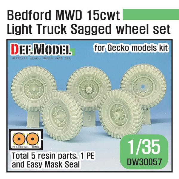 1/35 WWII 英軍ベッドフォードMWD15cwtトラック用自重変形タイヤセット(ゲッコーモデル用)[DEF. Model]《06月予約》