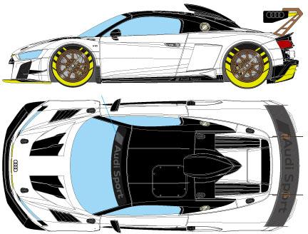1/43 アウディ R8 LMS GT2 グッドウッド・フェスティバル・オブ・スピード 2019[メイクアップ]【送料無料】《09月予約》