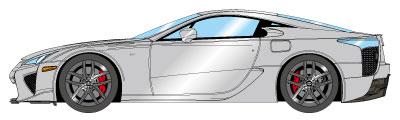 1/43 レクサス LFA 2010 シルバー[メイクアップ]【送料無料】《07月予約》