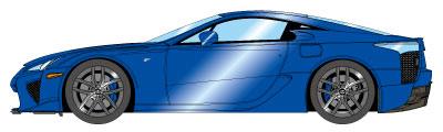1/43 レクサス LFA 2010 パールブルー[メイクアップ]【送料無料】《07月予約》