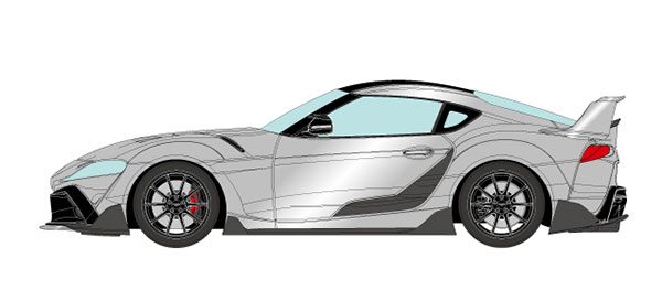 1/18 トヨタ GRスープラ TRD 3000GT コンセプト 2019 シルバーメタリック[メイクアップ]【送料無料】《10月予約》