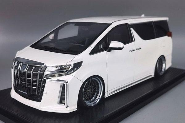 1/18 Toyota Alphard (H30W) Executive Lounge S Pearl White[イグニッションモデル]【送料無料】《10月予約》