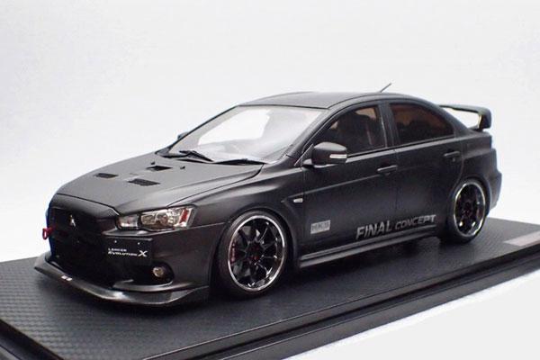 1/18 Mitsubishi Lancer Evolution X (CZ4A) Matte Black[イグニッションモデル]【送料無料】《10月予約》