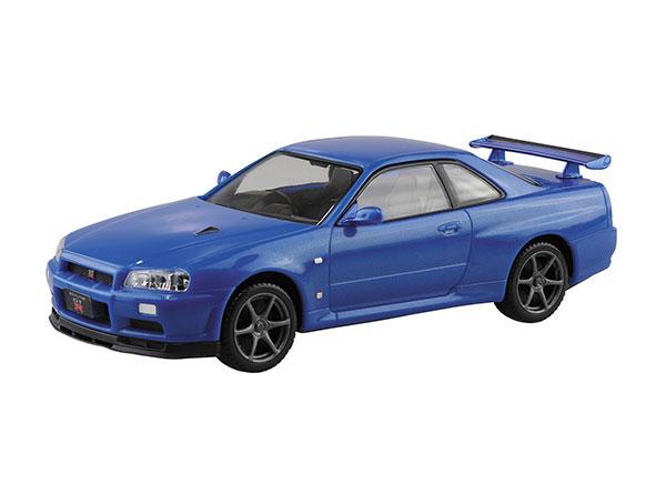 ザ・スナップキット No.11-A ニッサン R34スカイライン GT-R(ベイサイドブルー) プラモデル[アオシマ]《08月予約》