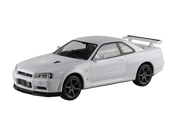 ザ・スナップキット No.11-B ニッサン R34スカイライン GT-R(ホワイト) プラモデル[アオシマ]《08月予約》