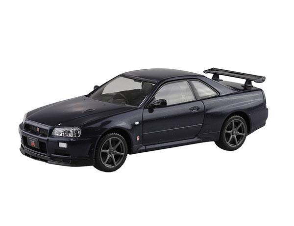 ザ・スナップキット No.11-C ニッサン R34スカイライン GT-R(ミッドナイトパープルIII) プラモデル[アオシマ]《08月予約》