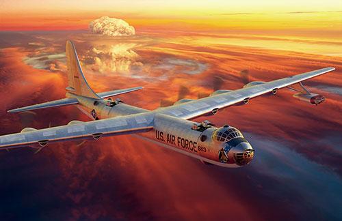 1/144 米・B-36Dピースメーカー戦略爆撃機・増加JETエンジン型 プラモデル[ローデン]《06月予約》